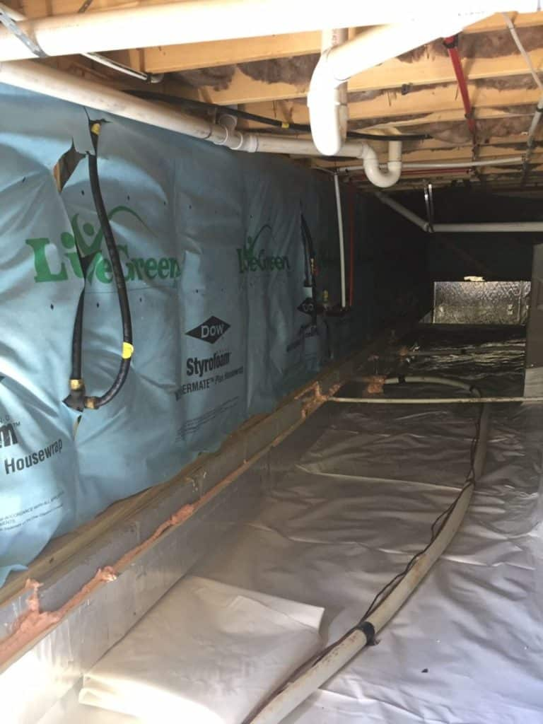 Sealed crawlspace systems installed