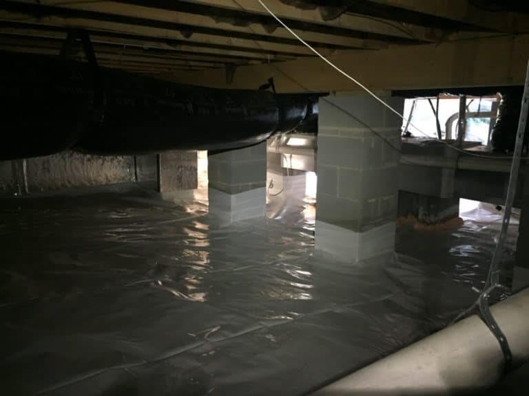 Moisture free crawlspaces