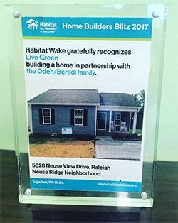Habitat Home Builder Award